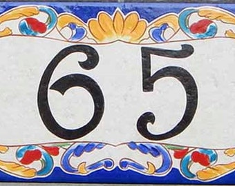 Italian House Signs, House Address Numbers, House Address Signs, Address Plaque For House, Tile House Numbers, Door Numbers, Decorative Tile