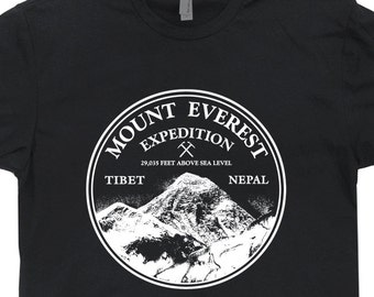 Mount Everest Expedition T Shirt Mountain Climbing T Shirt Rock Climbing Shirts Alaska T Shirt Colorado Ski Skiing Snowboard Mens Womens Tee