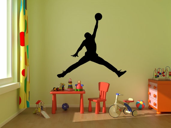 michael jordan wall decal jumpman decalboy room decal michael jordan wall stickers home decor wall decals for