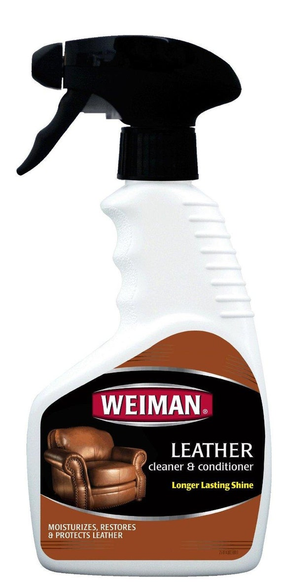 Weiman Leather Cleaner Conditioner Moisturizer Protect Polish Clean Couch Furniture Car Auto