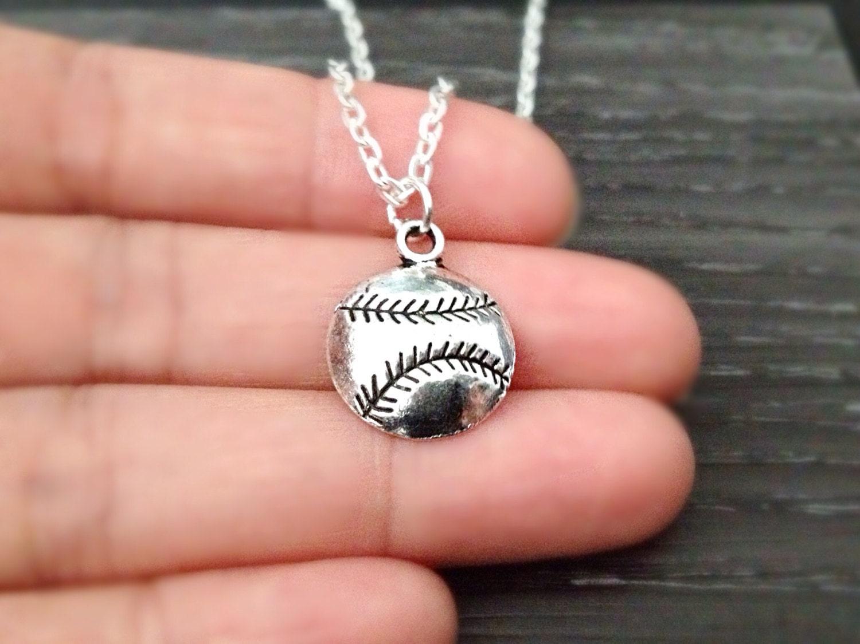 baseball necklace sports jewelry softball necklace by