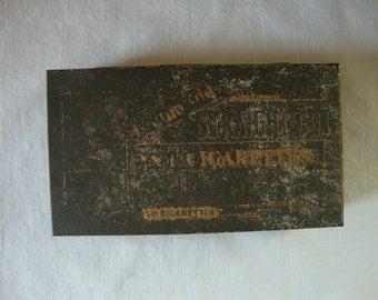 ANTIQUE COPPER CIGARETTE Box Antique Advertising Cigarette Box