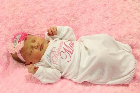 Personalized Newborn Baby Girl Clothes New Baby Gift Take Home