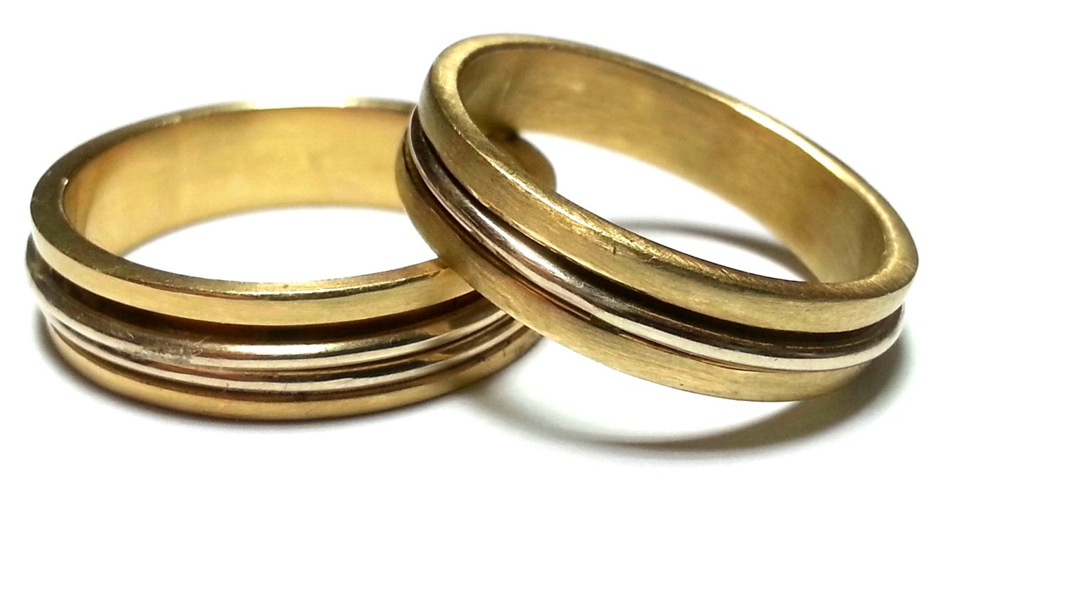 Matching Wedding Rings His And Hers Wedding Bands By JKASHI1889