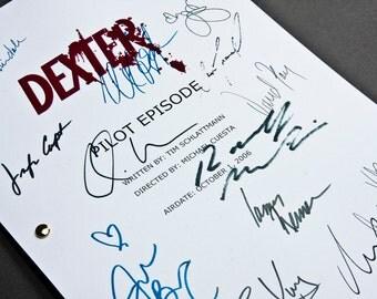 Dexter TV Script with Signatures / Autographs Reprint Unique Gift