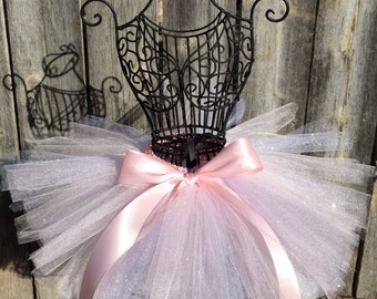 Pink and Silver Tutu, Princess Tutu, Baby Tutu, Toddler Tutu, Pink Tutu, Silver Glitter Tutu, Birthday Tutu, Birthday Tutu, READY TO SHIP