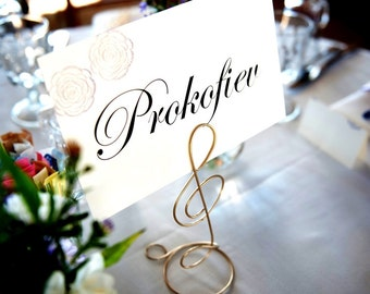 Treble Clef Table Place Card Holders 5pcs