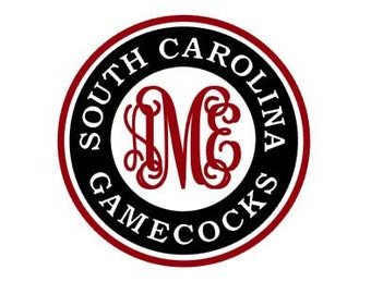 South Carolina Gamecocks Monogram instant download for cutting machines - SVG DXF EPS ps studio3 studio