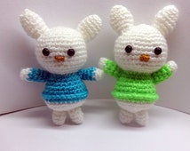 Crochet bunny/ acrylic yarn/ amigurumi toy/ Colorful bunny /Baby toy /Handmade toy / Cute gift/Children gift / Ready to ship