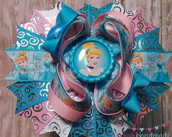 Cinderella inspired boutique hair bow!