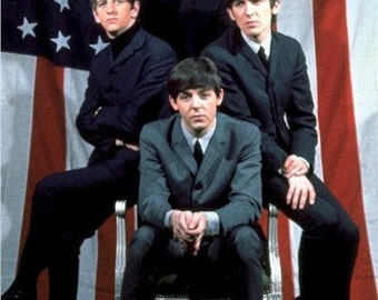 The Beatles American Flag Vintage Poster