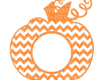 Split polka dot pumpkin svg and dxf digital download for Monogram pumpkin templates
