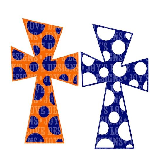 Funky Polka Dot Cross Svg And Dxf Digital Download