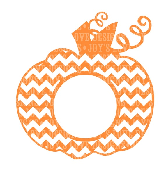 Chevron monogram pumpkin svg and dxf digital download for Monogram pumpkin templates