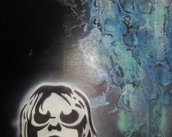 teen spirit Kurt Cobain painting