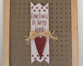 Love Lives in Happy Hearts Hanger