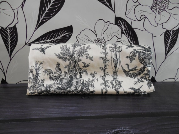 French country decor black and white fabric by the yard toile - Toile decorative murale ...