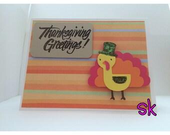 Create a Critter - Cricut - Greeting Card - Handmade - Thanksgiving - Turkey - Happy Thanksgiving