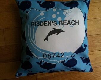 Risden Beach Badge Pillow