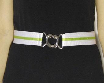 Vintage Belt High Waist White Fabric 1980s