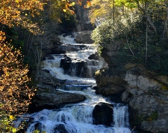Cullasaja Falls in the Autumn