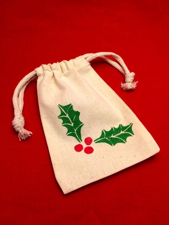 Reusable holiday gift bag favor