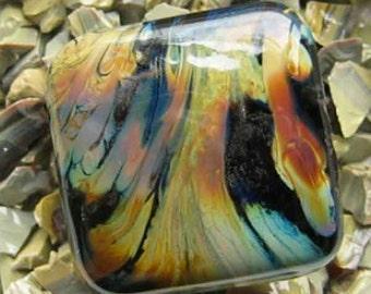 Iris Orange Raku Reichenbach Glass Frit 1 OZ R-108 K-3 for lampwork