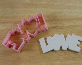 Valentine's Day LOVE Cookie Cutter, Mini and Standard Sizes, 3D Printed