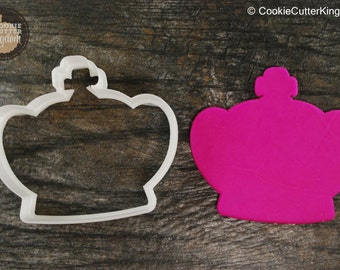 Fluffy Crown Cookie Cutter, Mini and Standard Sizes, 3D Printed