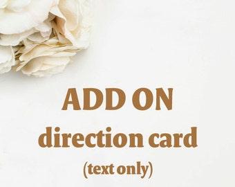 Add an Direction card