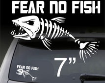 Popular items for fish bass trout on etsy for Fear no fish