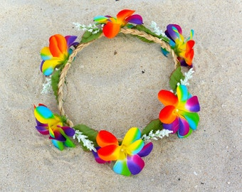 Crown of flowers big multi-color / Bohemia - hippie - gipsy - marriage