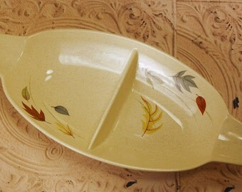 Franciscan Autumn Leaves Divided Serving Dish Thanksgiving Table Fall Decor
