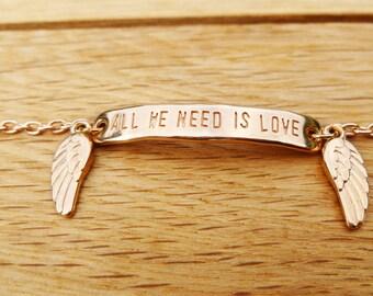 "Bracelet ""All We Need Is Love"""