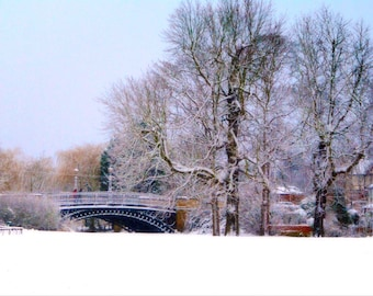Newport Pagnell print - Newport Pagnell photo - Bridge print - Bridge photo - Snow print - Winter photography - Winter print - Fine Art