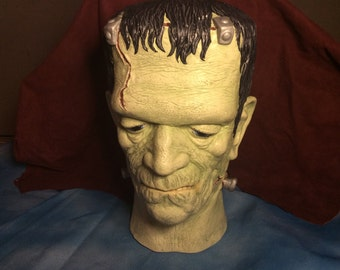 Very realistic life size bust of Frankenstein's Monster ~ 1988