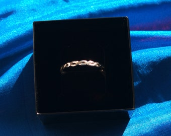Sterling silver hand madeTwisted Ring