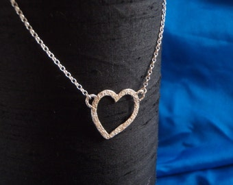sterling silver textured heart