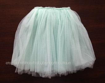 girls ballerina skirt, aqua ballerina skirt, baby girl tutu skirt, aqua tutu skirt, baby ballerina skirt