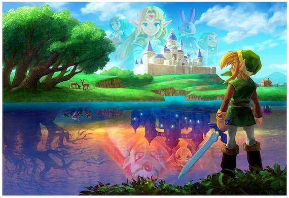 Zelda A Link Between Worlds Hyrule Castle Poster 13x19
