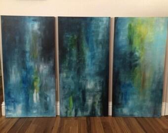 abstract tri set