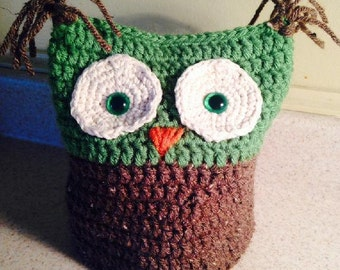 Crochet Owl Toilet Paper Roll Cover TP Roll Cover