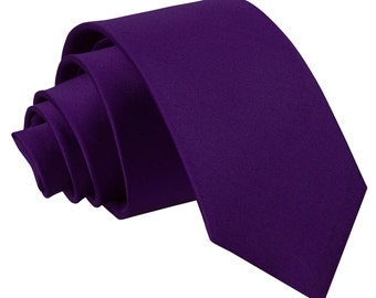 Satin Purple Boy's Tie