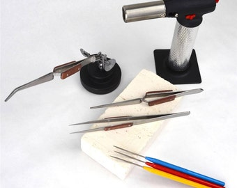 Basic Soldering Jewelers Tool Kit Magnesia Block Fiber Tweezers Jewelers Max Flame Torch Start Making Your Own Jewelry Today! KIT-0040
