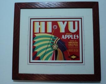 HI-YU Vintage fruit crate label