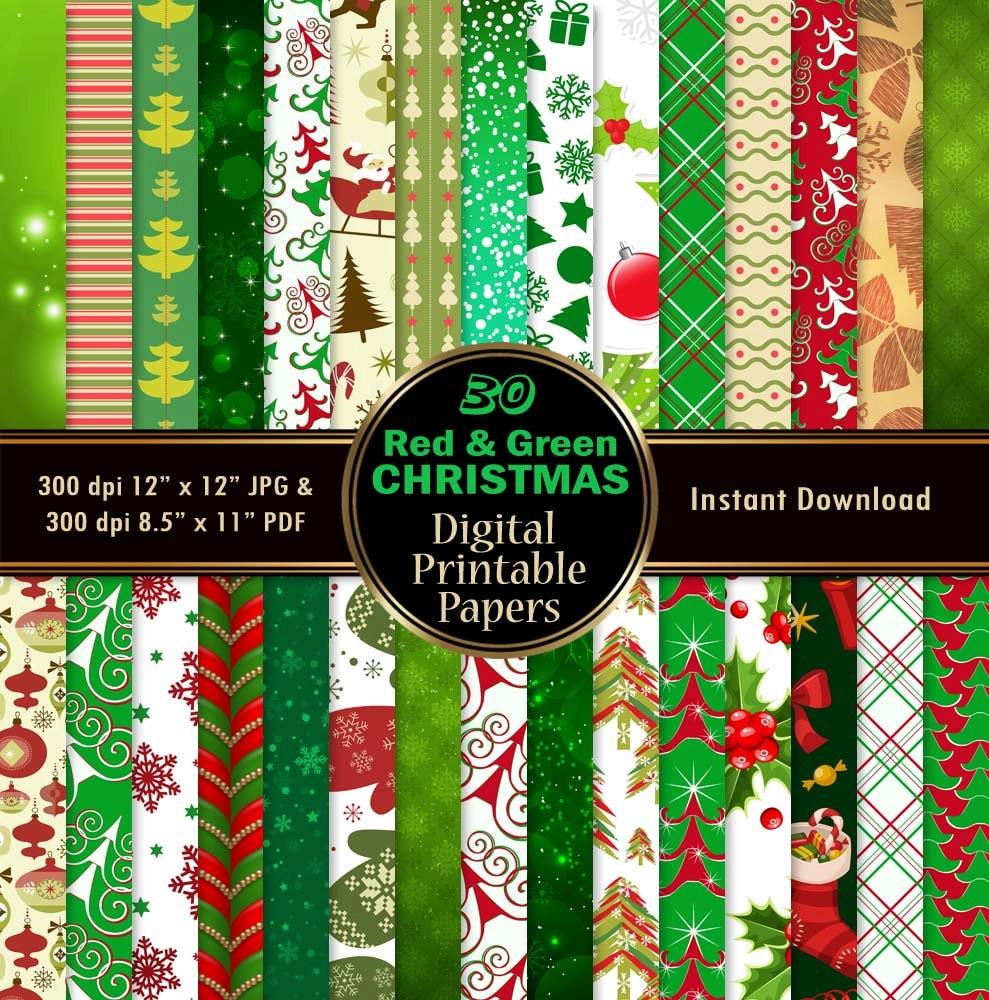 weihnachten scrapbook papier weihnachten digital paper pack 30. Black Bedroom Furniture Sets. Home Design Ideas