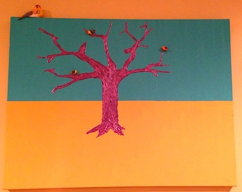 Abstract Tree and Birds