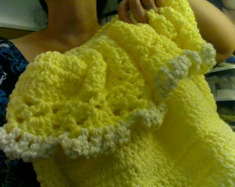 Yellow Crochet cocoon
