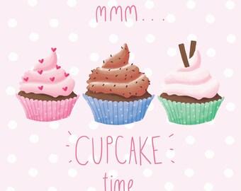 Cupcake Greeting Card! Yum cupcake time!