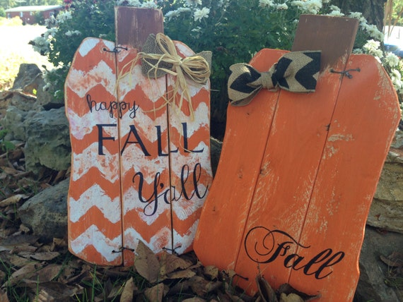fall halloween craft ideas items similar to fall orange chevron pallet pumpkin on etsy 4419